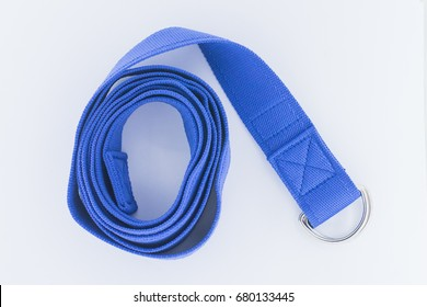 isolated yoga strap, for sports and fitness concept.