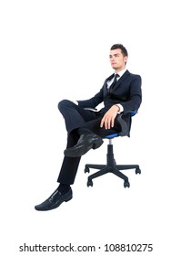 Terrific Man Standing On Office Chair Stock Photos Images Pabps2019 Chair Design Images Pabps2019Com