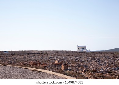Isolates house in Menorca Island. Spain