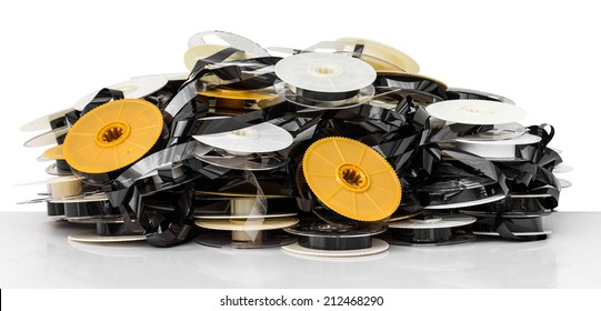 Isolates of VHS tape is not used to bring together a pile of clutter