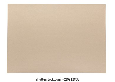 isolation of light brown texture paper on white background