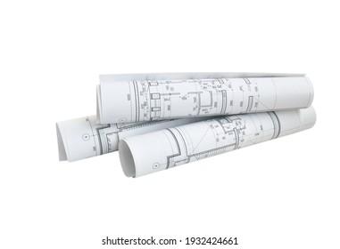 Isolierung mehrerer Zeichnungen für die Arbeiten des Projektingenieurs