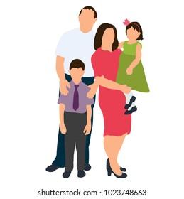 isometric people, family