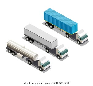 Isometric special vehicles  set 3