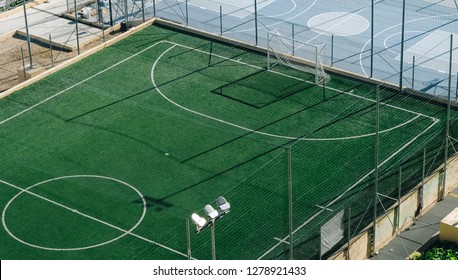 isometric view of artificial football field