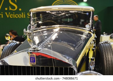 IF Isotta Fraschini tipo 8, year 1924, at Vintage car show Padova, Italy - oct 25 2015