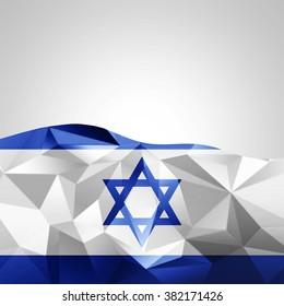 Israel abstract flag  with copyspace for your text or images and White background