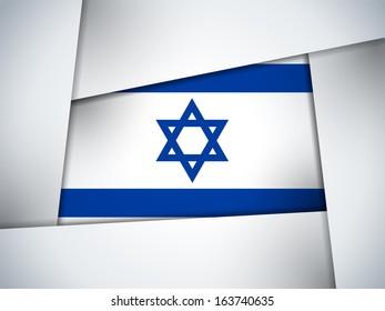 Israel Country Flag Geometric Background