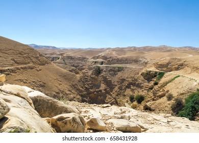 Israel, desert, desert landscape, sun, Rocky desert, canyon, desertion