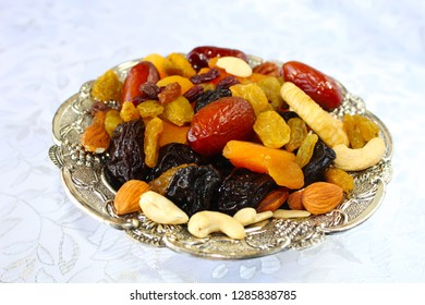 Israel, dried fruits and nuts.  Dried fruits and nuts - symbols of the Jewish holiday Tu Bishvat