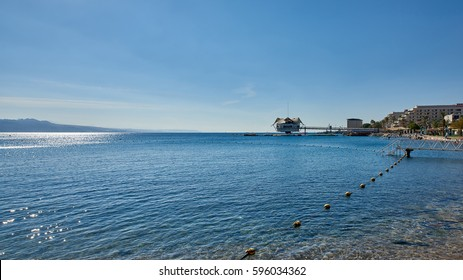 Israel. Eilat. Red sea. View to the south, towards Saudi Arabia.