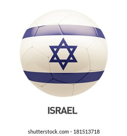 Israel Flag Soccer Icon isolated on white background