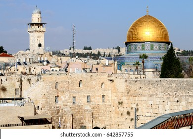 Israel Jerusalem mosque dome covered with gold
