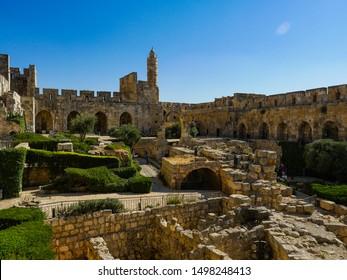 Israel Jerusalem old museum Castle of Kind David