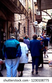 Israel, Jerusalem, Via Dolorosa, The Way of Sorrow, The Way of Grief, March 9, 1998
