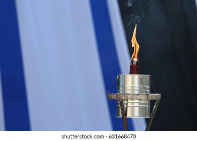 Israel marks annual Holocaust Memorial Day  a memorial torch during the opening ceremony