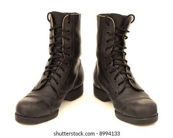 Israeli combat boots, isolated