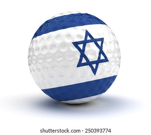 Israeli Golf Ball (Isolated with clipping path)
