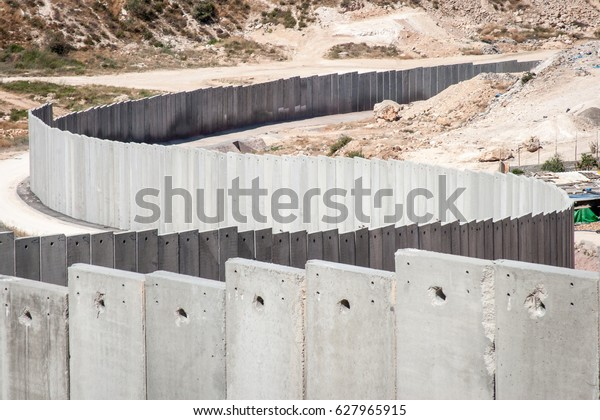 The Israeli separation or security wall with Palestine.