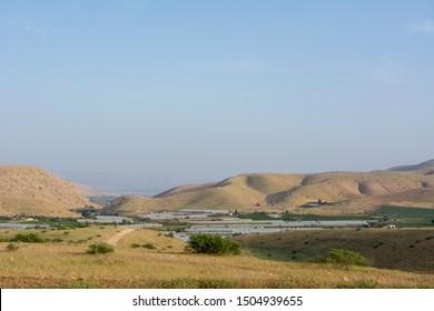 The Israeli side of Jordon Vally - Israeli settlement and agriculture in the Jordan Valley