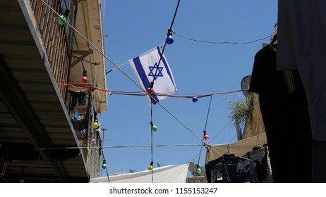 Israelian flag in Jerusalem