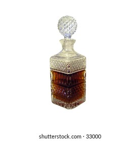 Issolated crystal decanter