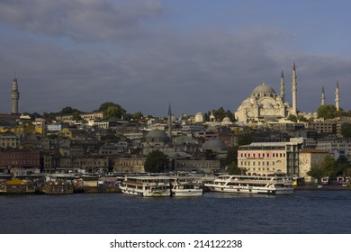 ISTAMBUL - August 30, 2014.  View of Istambul, the largest city of Turquey, from the Bosforus waterway. On August 2014 in Istambul, Turkey.