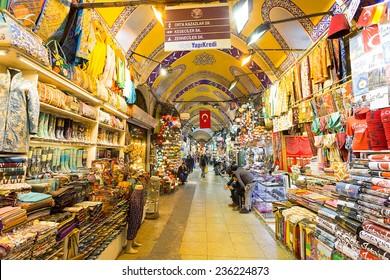 Istambul, Turkey - November 27, 2014: Mall Grand Bazaar (Kapal?cars?) in Istanbul, Turkey