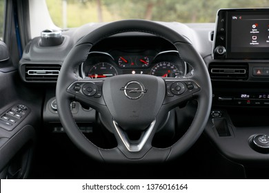 ISTANBUL - APRIL 21, 2019 : The fifth generation Opel Combo Turbo D. Opel's light commercial vehicle model. Produced under the roof of PSA group.