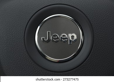 ISTANBUL - APRIL 22: Close-up of Jeep logo on April, 2015 in Istanbul, Turkey. Jeep is a brand of American automobiles that is a division of FCA US LLC, owned subsidiary of Fiat Chrysler Automobiles.