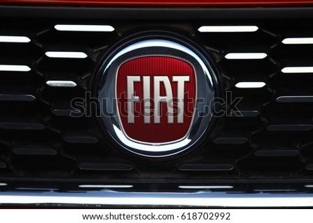 Istanbul April Italian Automobile Manufacturer Fiat Stock Photo