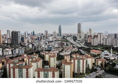 Istanbul, Atasehir, Turkey - March 15, 2019; Atasehir is a modern district of Istanbul. Atasehir is in the Anatolian part of Istanbul.