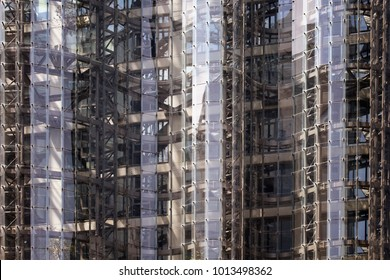 "ISTANBUL - AUGUST 13, 2017: Close up view of modern, glass office building in Maslak / Istanbul called ""No1"". Architectural project by EAA architects."