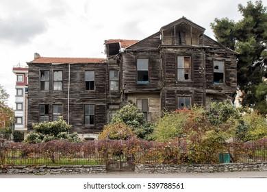 Istanbul, Bakirkoy -20 December 2016: Resneliler Mansion on Incirli Street. Ottoman Empire Wooden hunting mansion, Istanbul, Turkey