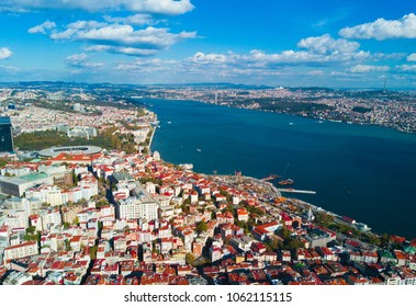 Istanbul and Bosphorus from a bird's eye view