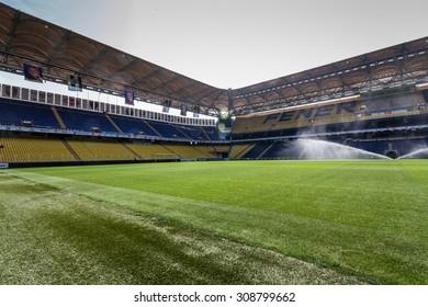 ISTANBUL - CIRCA APRIL 2012 : View of Fenerbahce Sukru Saracoglu Stadium circa April 2012 in Istanbul, Turkey.