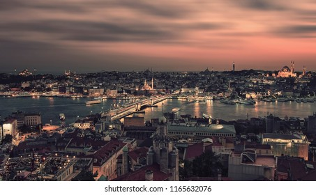 Istanbul city viewed from Galata tower