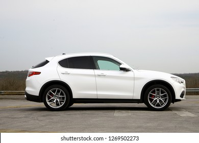 ISTANBUL - DECEMBER 29, 2018 : The New Alfa Romeo Stelvio is the new luxury optimal performance & utility SUV