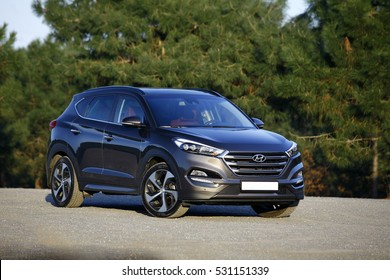 ISTANBUL - DECEMBER: Hyundai Compact SUV model new Tucson in December, 2016 Istanbul. Hyundai, the automotive industry's fifth largest automobile manufacturer in the world.