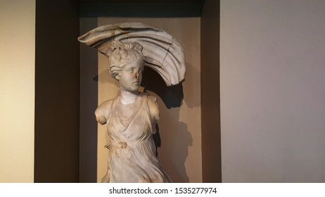 Istanbul, Fatih / Turkey - October 10 2019: Istanbul Archaeological Museum, marble sculpture, archaeological work