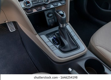 ISTANBUL - FEBRUARY 16, 2019: Hyundai Elantra, 6th generation facelift model, is a compact car produced by the South Korean manufacturer Hyundai since 1990.