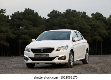 ISTANBUL - FEBRUARY 9, 2018: The Peugeot 301 is a compact sedan car, produced by the French automaker Peugeot. The 301 its twin Citroën C-Elysée, and has been manufactured.