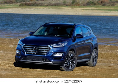 ISTANBUL - JANUARY 05, 2019: Hyundai Compact SUV model new Tucson. Hyundai, the automotive industry's fifth largest automobile manufacturer in the world.