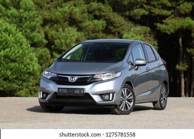 ISTANBUL / JANUARY 06, 2019 : Honda Jazz is a five-door, front-engine, front-wheel drive B-segment subcompact car manufactured and marketed by Honda.