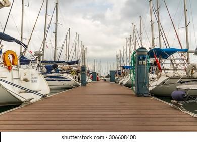 ISTANBUL - June 06: Sailboats at Pendik marina on June 06, 2012 in Istanbul, Turkey
