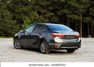 ISTANBUL - JUNE 17, 2019: Corolla it is a compact (C segment) class car produced by Japanese carmaker Toyota. The Toyota Corolla Sedan is the best-selling car in the world since its inception in 1966.