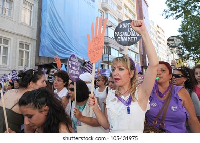 ISTANBUL - JUNE 18: Womens rallied in Istanbul on Sunday to protest proposed anti-abortion laws by Turkish Prime Minster Tayyip Erdogan on June 18, 2012 in Istanbul,Turkey.