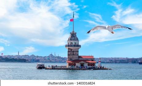 Istanbul Maiden Tower (kiz kulesi)  - Istanbul, Turkey