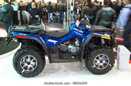 ISTANBUL - MARCH 03: Can-am Outlander 800 on display at Eurasia Moto Bike Expo 2012 on March 03, 2012 Istanbul, Turkey.