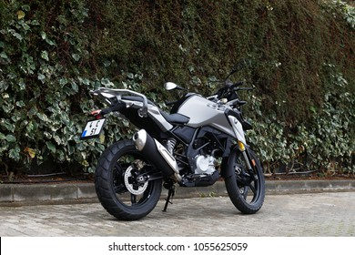 ISTANBUL - MARCH 27, 2018: The BMW Motorrad G310 GS is the starting enduro bike for BMW's small-volume city and adventure.